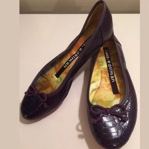 LIBBY EDELMAN Sam Purple Croc embossed Shoes Alex